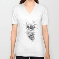 bee V-neck T-shirts featuring bee by DDDR