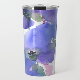 Blue Poppies and Wildflowers Travel Mug