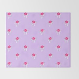 Holy orchid pattern Throw Blanket