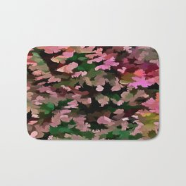 Foliage Abstract In Pink, Peach and Green Bath Mat
