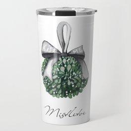 Kiss Me Under the Mistletoe Travel Mug