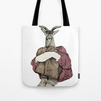 john snow Tote Bags featuring John by Emily Shaw