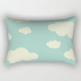 vintage clouds Rectangular Pillow