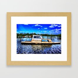 Abandoned River Boat Framed Art Print