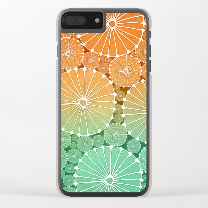 Abstract Floral Circles 7 Clear iPhone Case
