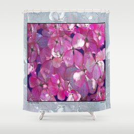 KOREAN DOGWOOD FLORAL COLLAGE Shower Curtain