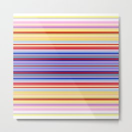 Rainbow Stripes Design Metal Print