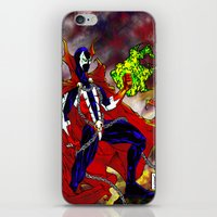 spawn iPhone & iPod Skins featuring Spawn Color by Gurriapu