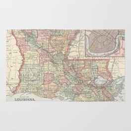Vintage Map of Louisiana (1891) Rug