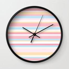Whale Beach Stripe Wall Clock