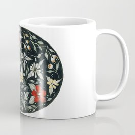Southwest Style Oval Floral Gouache Painting Coffee Mug