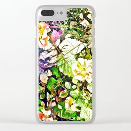 Scattered Blooms And Verdure Clear iPhone Case