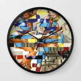 Glitch Pin-Up Redux: Yasmin & Yardley Wall Clock