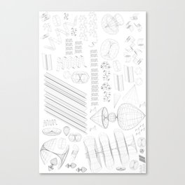 Wireframe Party Canvas Print