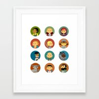 dragon age inquisition Framed Art Prints featuring Cute Inquisition by Panda