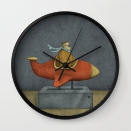 Road to Nowhere - Panel 3 Wall Clock