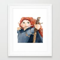merida Framed Art Prints featuring Merida  by Teddy Wade