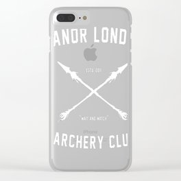 ANOR LONDO - ARCHERY CLUB Clear iPhone Case