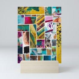 Painted tiles collage 5 Mini Art Print