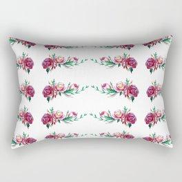 Roses Pattern Rectangular Pillow