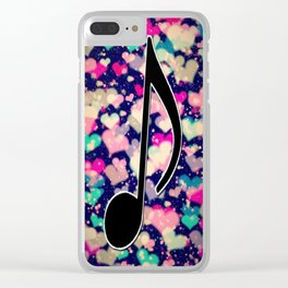 MUSIC-115 Clear iPhone Case