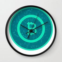 Bitcoin BTC Logo Cryptocurrency Design Wall Clock