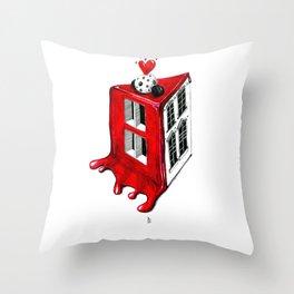 Red Velvet Cookie House Throw Pillow
