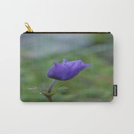 Lone Blue-Purple Anemone Carry-All Pouch