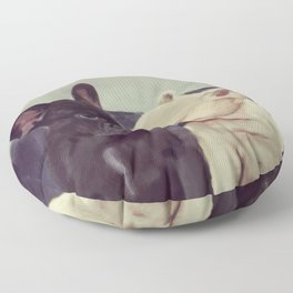 Frenchie kiss Floor Pillow