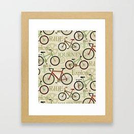 Bicycles, Journey Framed Art Print
