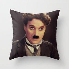 Charlie Chaplin, Hollywood Legend Throw Pillow