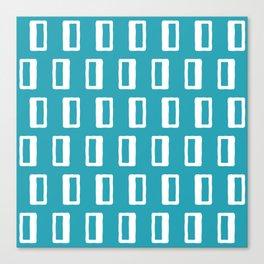 Chad Pattern Turquoise Leinwanddruck