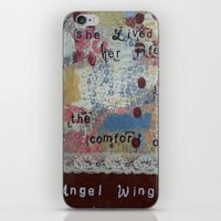 angel wings iPhone & iPod Skins featuring Angel wings  by drskippyart
