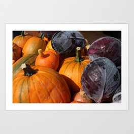 Pumpkins and Cabbages Art Print