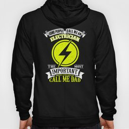 Electrician Dad Gift for Electrician Father Yellow Hoody