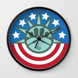 LIBERTY PAPER BAG Wall Clock