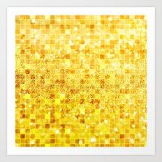 Disco Gold - Glitter Art Print