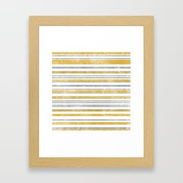 Sun Kissed Stripes: Silver and Gold Framed Art Print