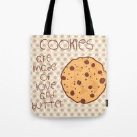 cookies Tote Bags featuring Cookies by Mim sh.