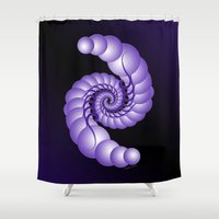 hook Shower Curtains featuring Julia's Hook by artsytoocreations