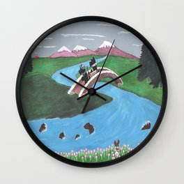 Looking for Nessie - Scotties - Scottish Terriers Wall Clock