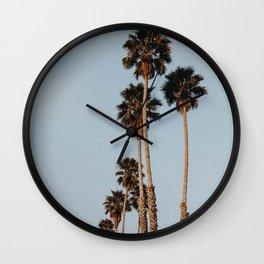 palm trees ii Wall Clock