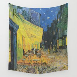 Vincent van Gogh - Cafe Terrace at Night Wall Tapestry