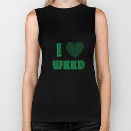 Weed Lover pot stoner Cannabis gift Biker Tank