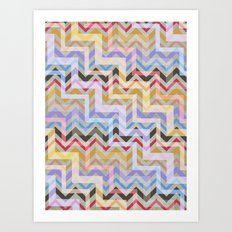 Chevron and on Art Print