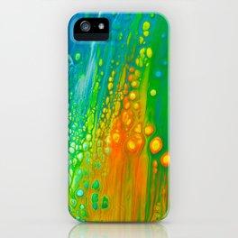 Aqua orange iPhone Case