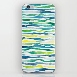 Ocean Zebra Chevron iPhone Skin