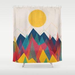 Uphill Battle Shower Curtain