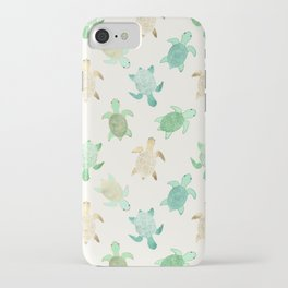 Gilded Jade & Mint Turtles iPhone Case
