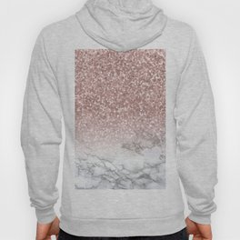 Sparkle - Glittery Rose Gold Marble Hoody